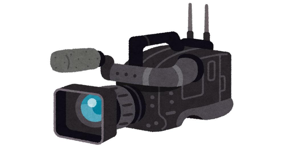 ビデオカメラのイラスト