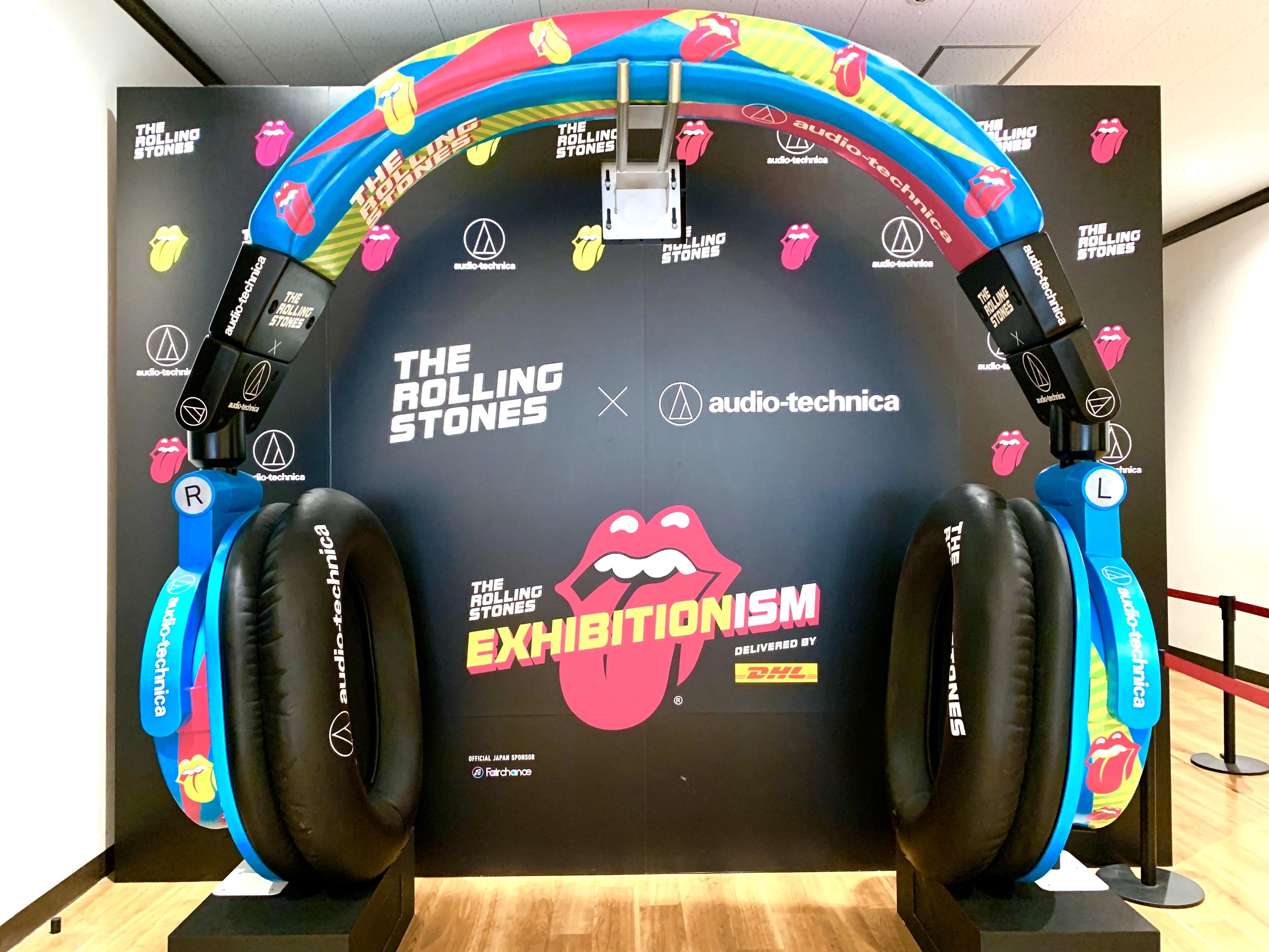 ストーンズ展で展示されていた巨大ヘッドフォン